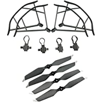Upgraded Propellers for DJI Mavic Pro 8331 8331F Low-Noise Quick-release Folding Propellers Prop Guard Bumper Rc Quadcopter Spare Part Set (Gray)