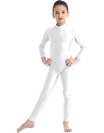 Brand New Acro Modern Dance Costume Unitard Metallic Blue Size 0 5-6yrs
