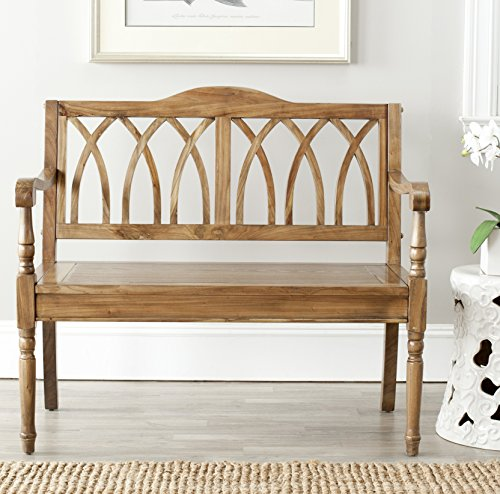Safavieh American Homes Collection Benjamin Oak Bench - This bench features an oak finish This bench is perfect for use as a seat or as an accent for any room Crafted of solid pine wood - entryway-furniture-decor, entryway-laundry-room, benches - 51ioMiI9JHL -
