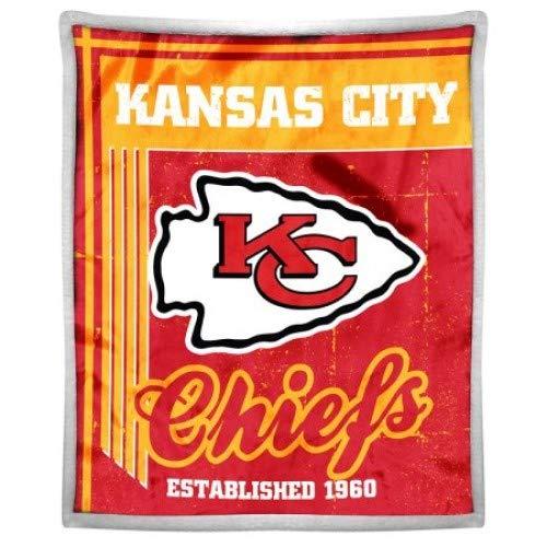 NFL Kansas City Chiefs Old School Mink Sherpa Throw, 50