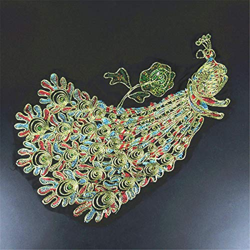 Phoenix Peacock Lace Dress Decor Applique Motif Lace Trim DIY Craft Embroidered (Pattern - #3) ()