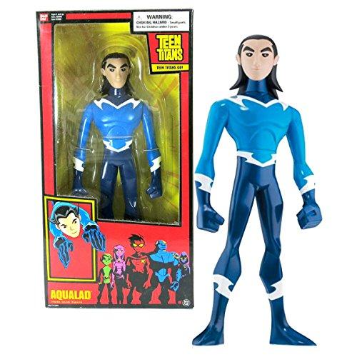 Bandai Year 2005 DC Comics Teen Titans Go! Series 10 Inch Tall Action Figure - AQUALAD with Display Base]()