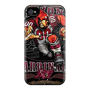 Best Cell-phone Hard Covers For Iphone 4/4s (xkO9133WAPl) Provide Private Custom Trendy Arizona Cardinals Skin