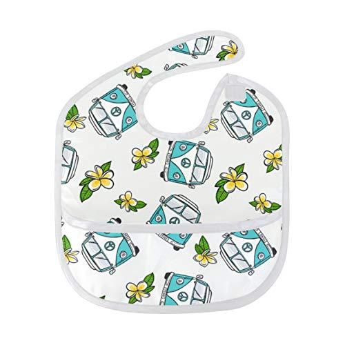 Aqua Vw Kombi Infant Bibs Baby Bib Roll Up Bib,Saliva Towel Antifouling Bibs for Toddler Bibs for Drooling And Teething