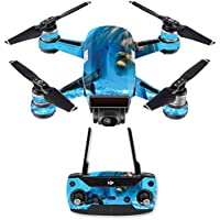 Skin for DJI Spark Mini Drone Combo - Dolphin| MightySkins Protective, Durable, and Unique Vinyl Decal wrap cover | Easy To Apply, Remove, and Change Styles | Made in the USA