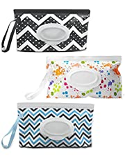 Wet Wipes Pouch, 3pcs Reusable Wipe Dispenser Baby Refillable Wet Wipes Container for Travel