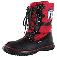Pajar Grip Low Women's Snow Boots Waterproof Red Black Size 9-9.5 40