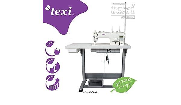 Texi - Máquina de coser Industrial - automático - lubricación granja - complètement subida sobre mesa - Neuf.: Amazon.es: Hogar