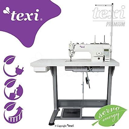 Texi – Máquina de coser Industrial – automático – lubricación granja – complètement subida sobre mesa