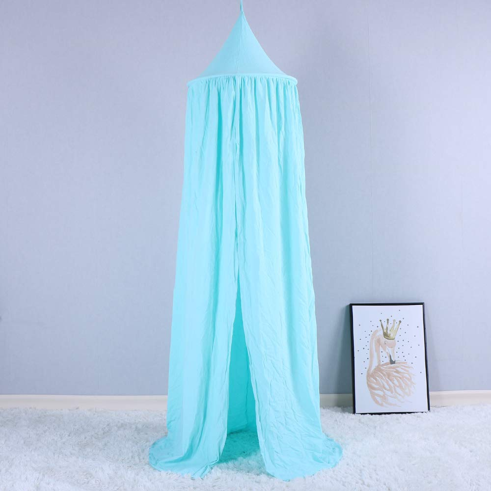 BATTILO HOME Kids Bed Canopy Hanging Mosquito Net for Baby Crib Nook Castle Game Tent Nursery Play Room Decor Beige