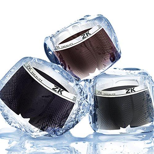 azul Marino 2 Comodo Hombre Transpirable 2 Calzoncillos amp; Aibrou Slip suave negro Boxer wHfxPZFq