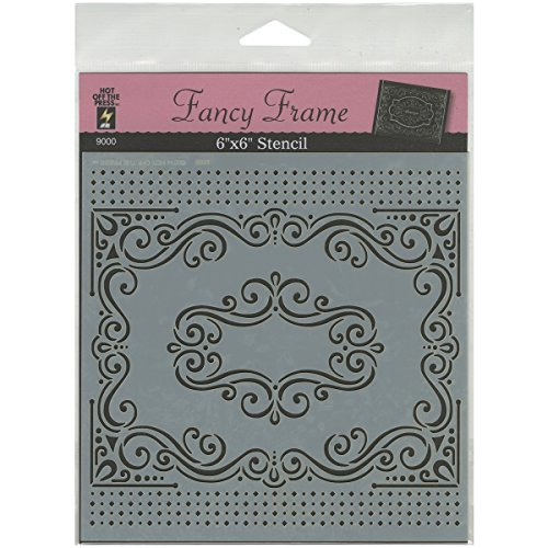 Stencil Frame (Hot Off The Press Stencils, 6 by 6-Inch, Fancy Frame)