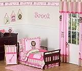 Sweet Jojo Designs 5-Piece Pink and Green Girls Jungle Toddler Bedding set