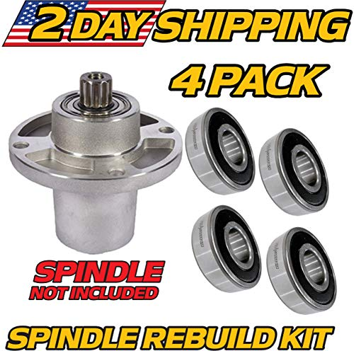 (4 Pack) Hustler 601804 Spindle Rebuild Kit, Sport, Raptor SD, Big Dog R & C Series - HD Switch