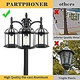 PARTPHONER 3-Head Outdoor Lamp Post Light