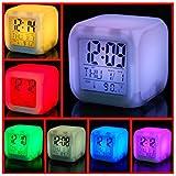 Buyerzone 7 Colour Changing LED Digital Alarm Clock