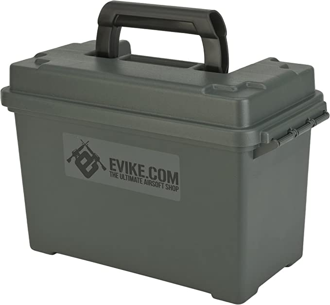Evike - Molded Polypropylene Stackable Ammo Can by Plano [Made in The USA]