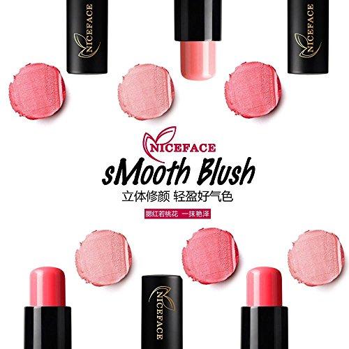 FTXJ Cosmetic Blusher Makeup Smooth Blush Stick Cheek Lip Glaze (Pink) by FTXJ (Image #5)