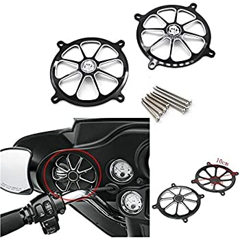 Amazon.com: Motorcycle Chrome Speaker Grills Cover For ...
