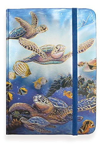 Foil Notebook - Turtles in Light - Large