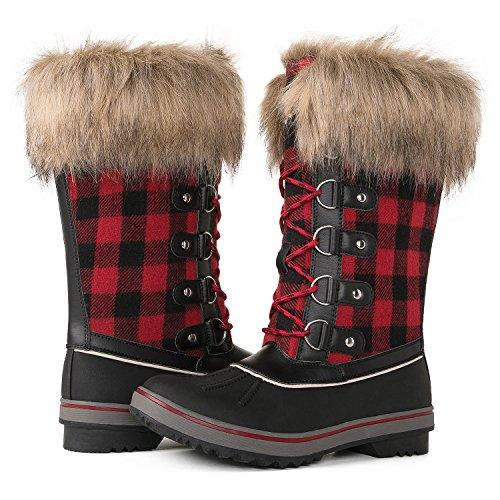 (GW Women's 1707 Water Proof Snow Boots (10 D(M) US Women's, 1740Red/Black))