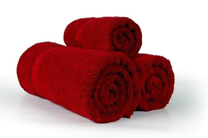 West Lane linens 625 G/m² 100% peinado algodón egipcio 6 pc juego de toallas de baño, color rojo oscuro color: Amazon.es: Hogar