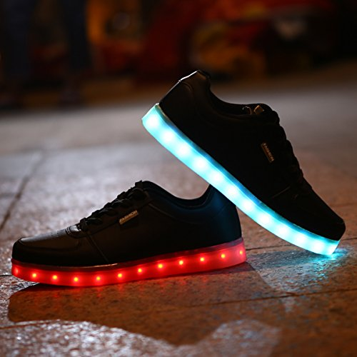 Unsex Luminosi DoGeek Nero Uomo con LED Luci Sportive Scarpe Sneakers Scarpe Accendono Ragazza Donna Le Ragazzo dWAAUt