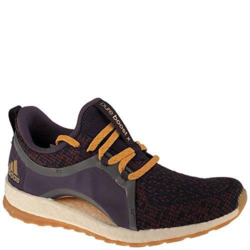 adidas Women's Pureboost X ATR Running Shoe, Legend Ink/Red Night/Tactile Yellow, 8 Medium US