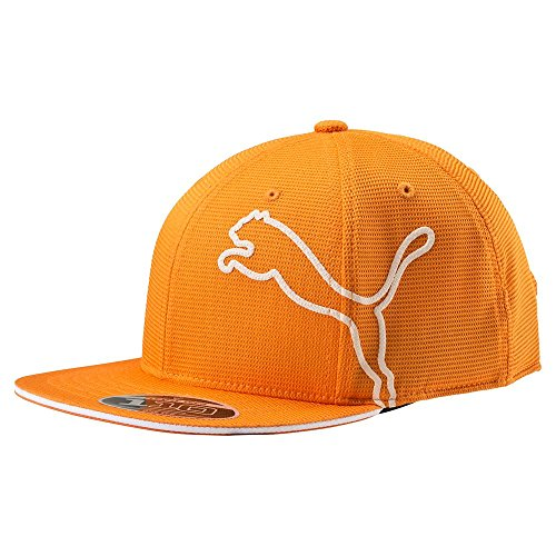 Puma Youth Monoline 110 Snapback Flatbill Cap Orange Puma Woven Cap
