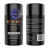 Hair Building Fibers Conceal Thinning Hair Unisex by Rewind With Nature Fibers 15g (Medium brown)