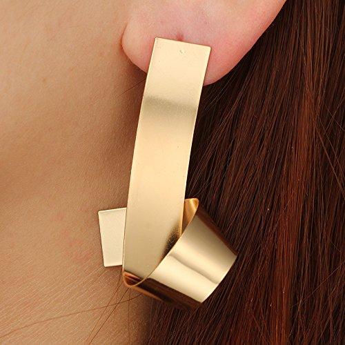 Gold Happy Trendy Irregular Geometric Earrings for Women Alloy Statement Earrings 2018 Big Modern Earrings Vintage Art Jewelry