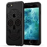 iPhone 7 Skull Case, True Color Black Sugar Skull HD Printed on CLEAR ...