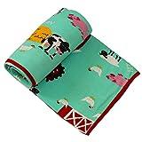 Kadambaby - Soft baby blanket, receiving blanket, travel blanket, crib blanket, stroller blanket, AC Blanket. Animal Farm Design