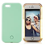 iPhone 6 Plus Case, LETO City LED Light Up Luminous Selfie Cell Phone Case Illuminated Back Cover for Apple iPhone 6S Plus iPhone 6 Plus (Mint Green)