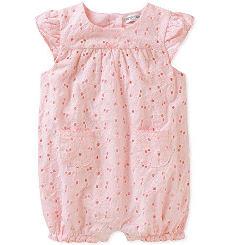 absorba Baby Girls Romper, Pink Print, 18M