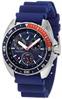 Nautica Men's N07578G Sport Ring Blue and Red Watch by Nautica