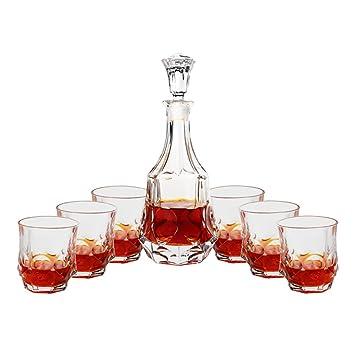 Traje Decantador Whisky Copa Botella Vino Cristal Hogar Copa Cristal Con Tapa Separador Vino Tinto Vino