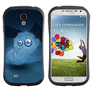 Suave TPU Caso Carcasa de Caucho Funda para Samsung Galaxy S4 I9500 / Winter nights Monster / STRONG