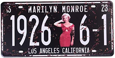 VINTAGE RETRO STYLE METAL TIN SIGNS POSTER MARILYN MONORE CAVE WALL HOME