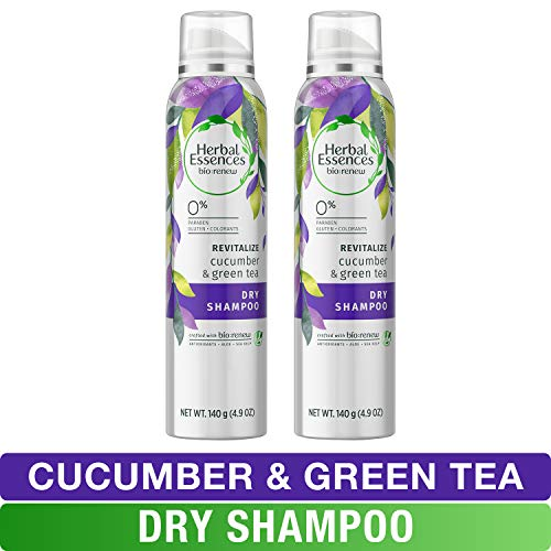 Herbal Essences, Dry Shampoo, BioRenew Cucumber & Green Tea, 4.9 fl oz, Twin Pack