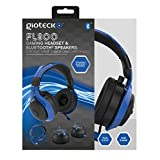 Gioteck FL-300 Wired Stereo Headset with Removable Bluetooth Speakers - Blue