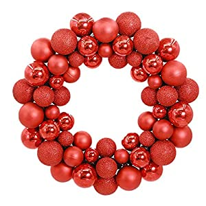 Christmas Best Gift!!!Kacowpper Christmas Wreath Door Wall Ornament Garland Decoration New Year Decor