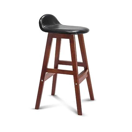 Prime Amazon Com Jjek Bar Stool Short Back Solid Wood Stool Theyellowbook Wood Chair Design Ideas Theyellowbookinfo