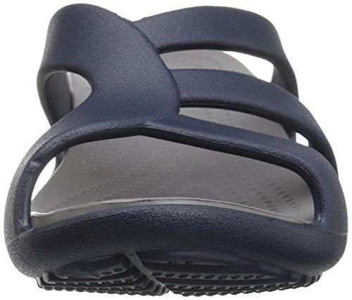 Sanrah Sandalias Wedge Crocs Azul Mujer Cuña Strappy navy Con smoke Para UTqxw6x