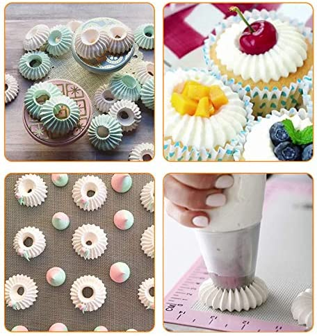Ice Cream Cake Decorating Russian Ring Icing Piping Nozzles Ring Mold Pastry