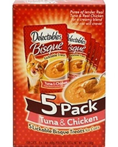Delectables Bisque Tuna & Chicken 5 x 1.4 oz - Collection Bisque