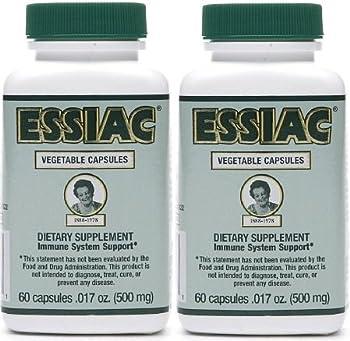 Essiac 500 Mg, 60 Vegetarian Capsules (2 Pack)