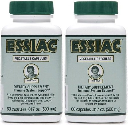 Essiac 500 Mg, 60 Vegetarian Capsules (2 Pack) (Best Tea For Cancer Fighting)