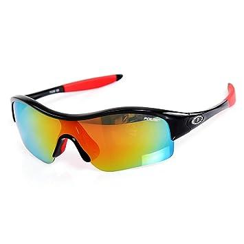 HQCC Gafas Deportivas para niños Gafas polarizadas niños y niñas Gafas Parabrisas Bicicleta Gafas 5 Color