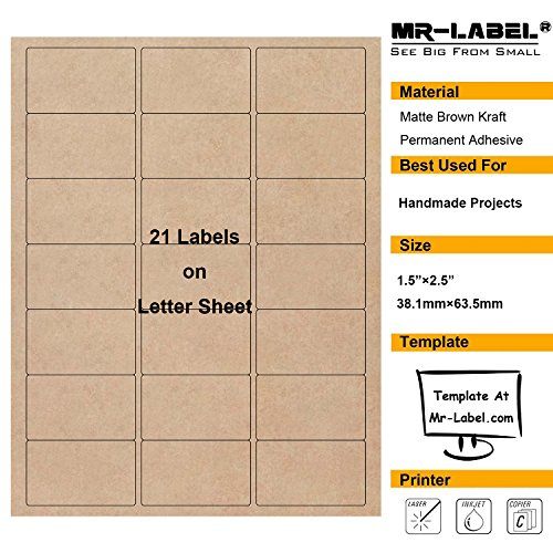Kraft Paper Labels - Mr-Label 1-1/2
